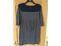 Jo Jo Maman Bebe Navy stripe dress Size S