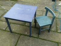 Kids desk and 2 chairs