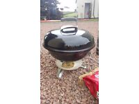 Webber BBQ Smokey Joe Portable Charcoal Grill comes with Chimney starter and bag of coal