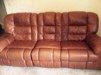 3 piece recliner Italian leather suite