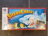Vintage 1988 MB Shark Chase Motorised Race & Chase Family Board Game
