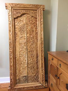 Hand carved Balinese door