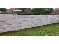 concrete fencing package deal 30ft at 5ft high inc local delivery