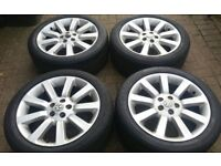 GENUINE 20 L322 AUTOBIOGRAPHY VW T5 TRANSPORTER ALLOY WHEELS 245 40 20 GOODYEAR