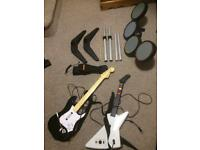 Rock band drum & guitar set