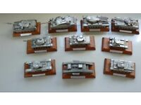 "Set of 10 ""English Miniatures"" diecast model tanks"