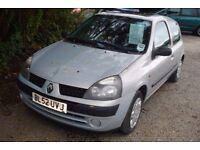 Renault Clio Expression 1149cc, 2003-52-plate, 123,000 miles, new mot