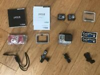 GoPro Hero 4 Silver Edition HD Camera with extra battery and 64gb micro sd card