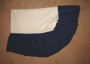 Navy Bed Skirt for Twin Bed
