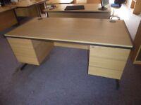 (5)Lee and Plumpton Astral Euro Desk light oak