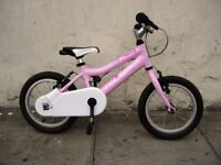 Kids Bike By Ridgeback, Pink, 14 inch for Girls 4+, Light Ali Frame, JUST SERVICED / CHEAP PRICE!!!!