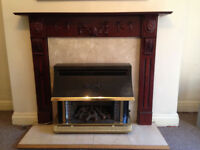 Gas Fireplace with Surround Mantlepiece