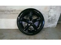 ALLOYS X 4 OF 20 INCH GENUINE AUDI Q7 S/LINE 4X4 FULLY POWDERCOATED IN A STUNNING HIGHGLOSS BLACK