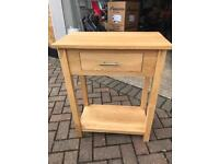 Solid oak console table for sale