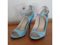 Rockport Women's High-Heel Peep-Toe Shoes (colour Aqua Sea) brand new
