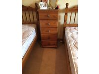 Tall chest of drawers/pine