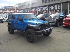 2016 JEEP WRANGLER UNLIMITED SPORT LIFTED ON 35'' TIRES!!