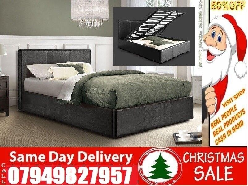 """ASpecial Offer small double single kingsize LEATHER Beddingin Seven Sisters, LondonGumtree - Please click """"See all ads"""" at the top to see more Beds and other furniture in our store"""