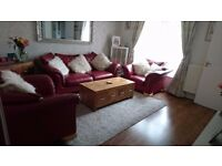 3 piece leather suite sofa
