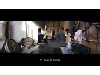 Gym , power rack, weights set