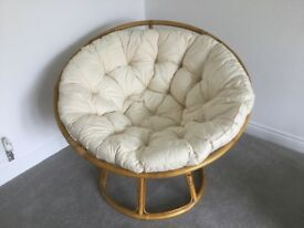 For Sale - Cane Two-Part 'Egg Cup' Chair from The Pier, rarely used