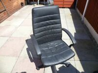Comfortable Black Leather Chair