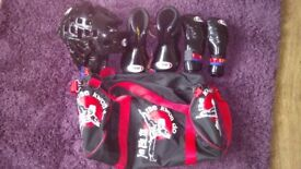 Tae kwon do bag and protective gear