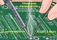 Electronic Soldering, Port Repairs, Kit construction