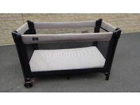 BabyDan Travel Cot Easy N Lite , with extra foam mattress, and free sheets, duvet and cover