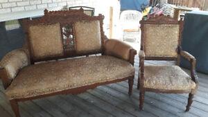 Eastlake Settee and chair
