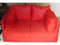 2 TWO SEATER SOFAS RED FREE TO COLLECTOR