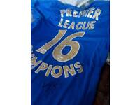 Signed Leicester city 16 champions shirt