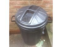2 black dustbins free for collection