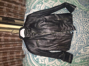 Gorgeous soft fitted black leather jacket