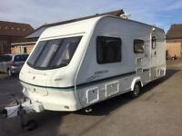 Elddis 4 berth family caravan with motor mover and awning