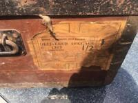 Vintage railway Trunk With labels