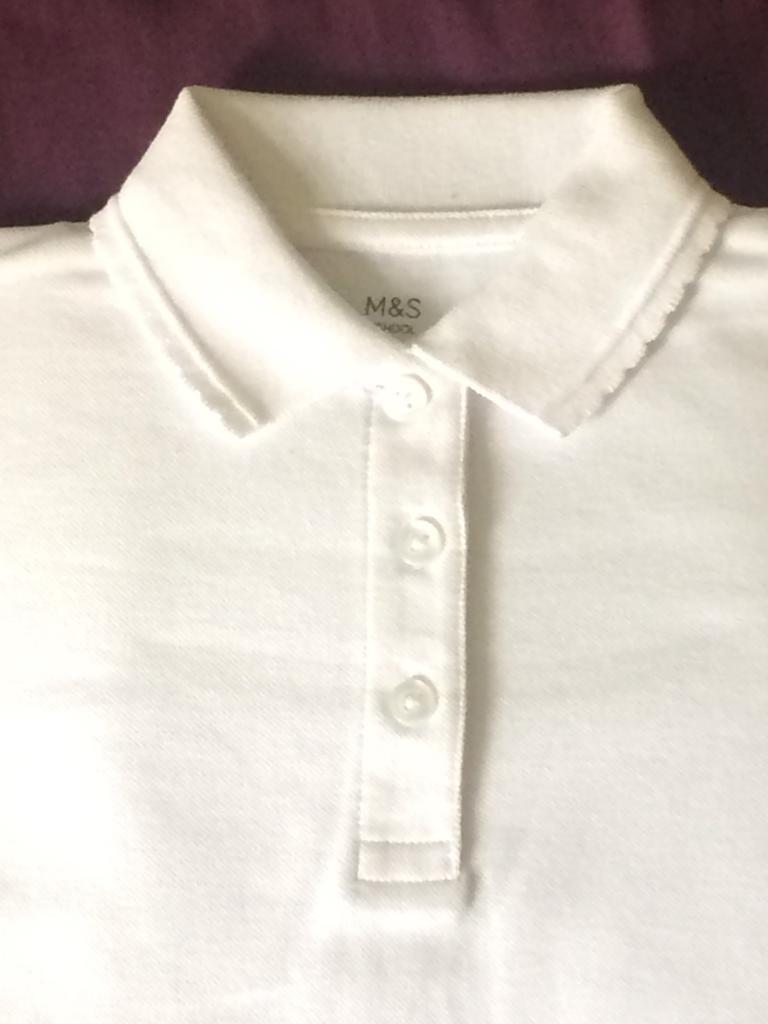 M&S Polo Shirt girl School Uniform
