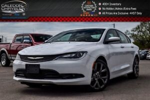 2016 Chrysler 200 S|Pano Sunroof|Backup Cam|Bluetooth|Pwr Seat|R