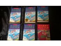 6x harry potter books