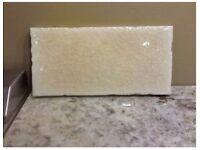 3 boxes beautiful antique cream crackle glaze tiles