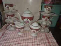 Retro 15 piece tea set