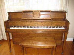 Compact/Apartment Size Mason and Risch Piano with Stool