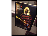 Big Kurt cobain nirvana framed poster!
