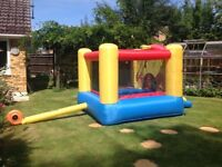 """Childrens bouncy castle for kids aged upto 10. Size 10' X 7' 6"""" X 6' high."""