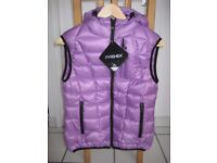 Women down hooded vest Pyrenex - size 10 - brand new with tags