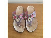 FlyFlot Multi-coloured Mule style Summer Sandals Size 6