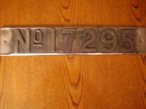 Vintage Used Locomotive Number Sign