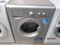 *+*+INDESIT SILVER+ECOTIME+6KG/1200 RPM/WASHING MACHINE/FULLY SERVICE/VERY CLEAN/+DELIVERY++