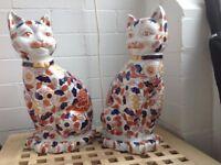 Japanese Imari Porcelain Cats