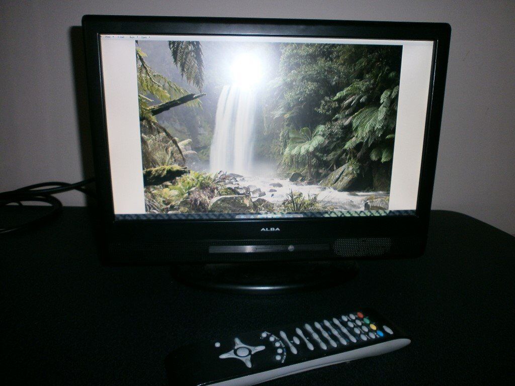 Alba LCDW16HDF 16Digital Hd Ready LCD TV. USEDin Montrose, AngusGumtree - Alba LCDW16HDF 16 Digital Hd Ready LCD TV. Perfect for the kitchen, has a ton of inputs with speakers, see photos and comes with a remote. Has a small ding in the top right corner of the screen, about 1mm. It looks like a dark dot but the rest of the...